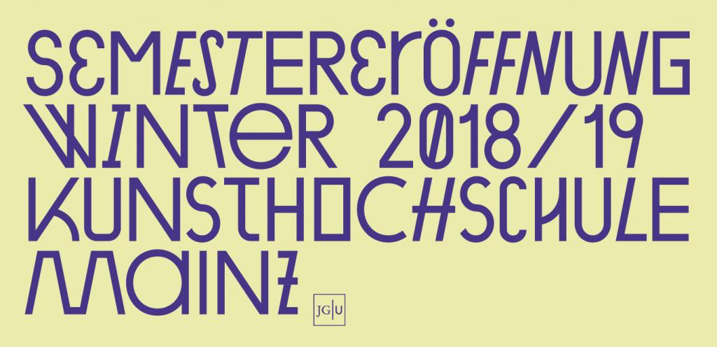 Semestereröffnung Wintersemester 2018/19