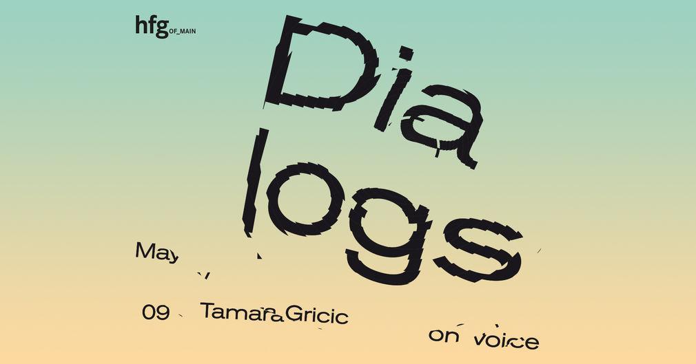 Dialogs Lecture Series, Tamara Grcic