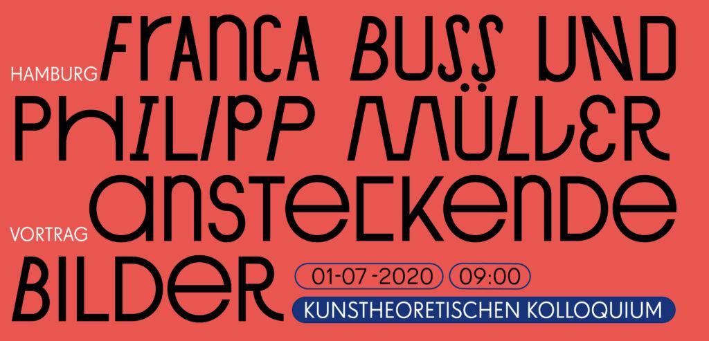 Kunstheoretischen Kolloquium, Franca Buss und Philipp Müller
