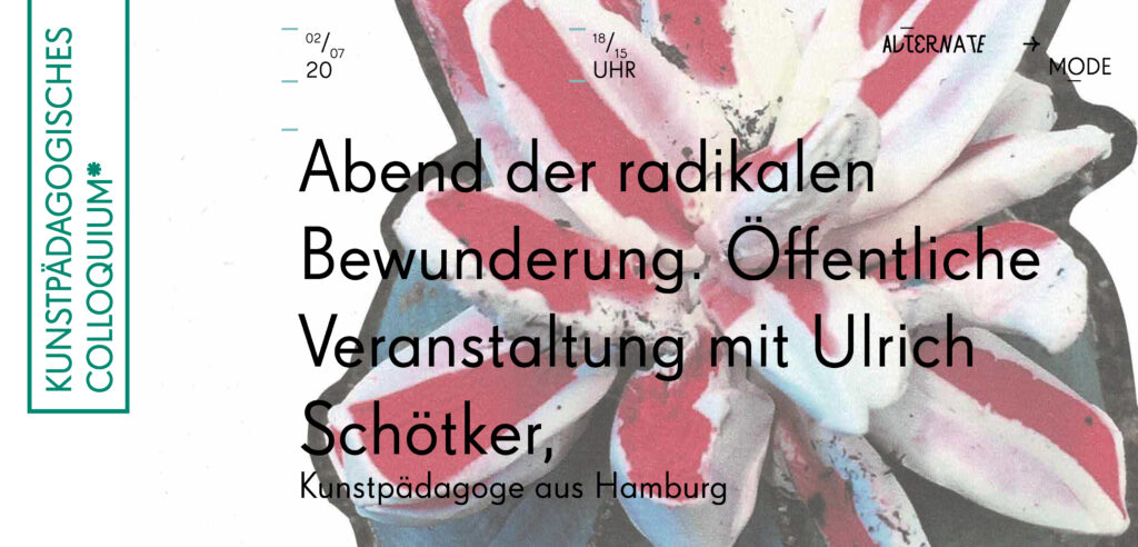 Kunstpädagogisches Colloquium*