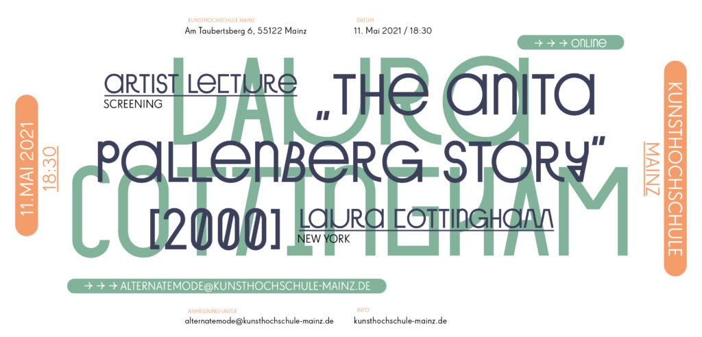 Vortragsreihe Sommersemester 21, Laura Cottingham, The Anita Pallenberg Story