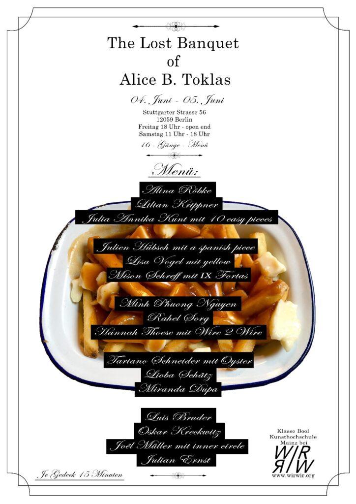 """Digital opening of """"The Lost Banquet of Alice B. Toklas, Klasse Bool"""