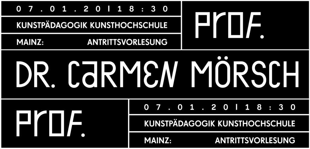 Vortragsreihe Wintersemester 19/20, Prof. Dr. Carmen Mörsch