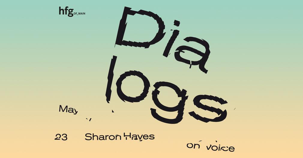 Dialogs Lecture Series, Sharon Hayes